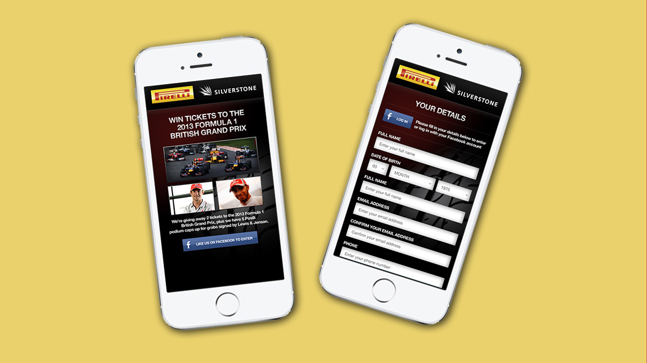 Pirelli mobile website